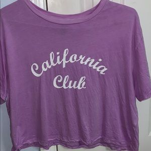 H&M Graphic Cropped Tee